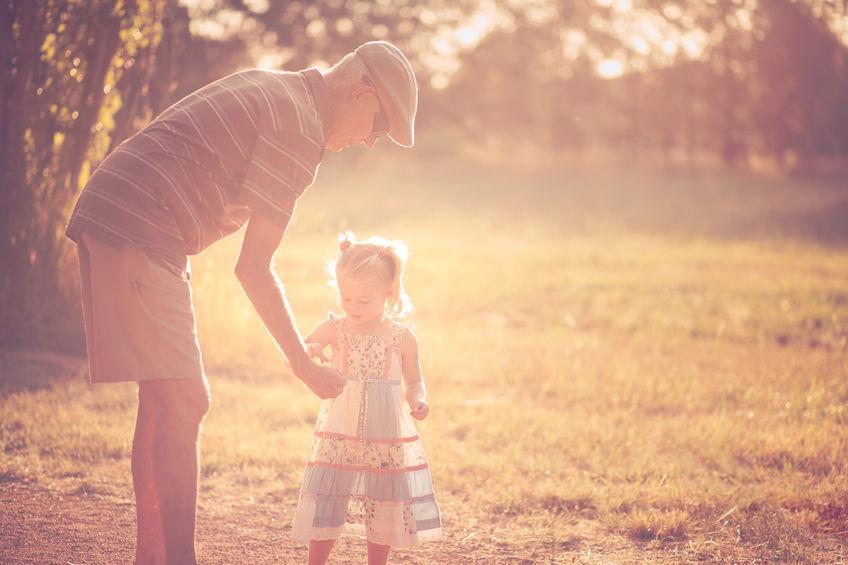49700193 - grandfather and grandchild
